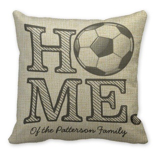 Mooninght Player Soccer Player Square Cushion Cover
