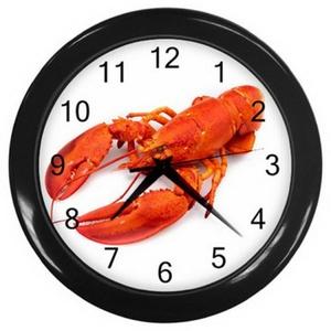 Wall clock LZWC 032 New Beautiful Big Red Lobster Shrimp Prawn Wall Clock rare!