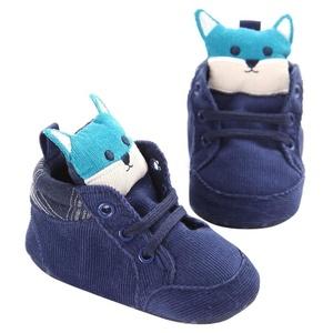 Iuhan Newborn Baby Kids Prewalker Shoelace Toddler Non-slip Soft Sole Shoes