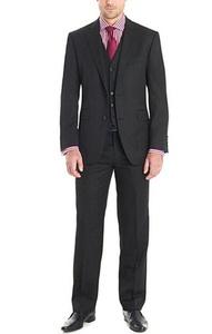 GEORGE BRIDE 3 Piece Slim Fit Suit for Men -Jacket, Trousers and Vest,Custom size