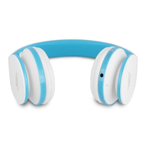 FX-Victoria Bluetooth Headset over Ear Headphone, Bluetooth Wireless Headphones, Stereo Foldable Headset with Built in Microphone and Volume Control, On Ear Stereo Wireless Headset - Blue