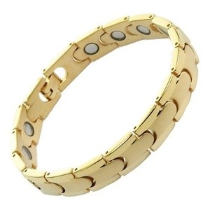 eXcel Titanium Magnetic Power Golf Bracelet with ions IP Gold Free Gift Box and Size Adjuster by Excel Bracelets