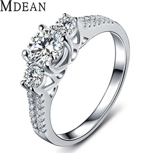 Slyq Jewelry Wedding Ring platinum plated Jewelry Engagement Vintage Ring bague zirconia fashion Accessories MSR011