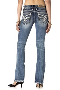 ROCK REVIVAL WOMEN'S ADMETA B201 BOOT CUT JEANS (Waist 31 Length 34)