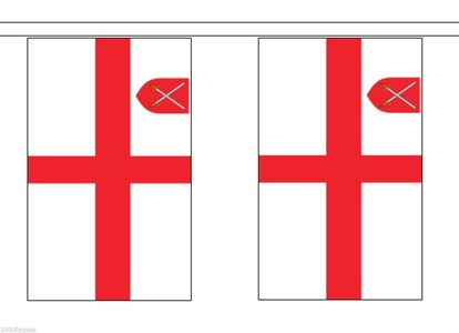 Church of England Material String Flag / Bunting 5m (16') Long With 14 Flags