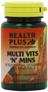 Health Plus Multi Vits 'n' Mins One-a-day Multivitamin Supplement - 30 Tablets by Health Plus