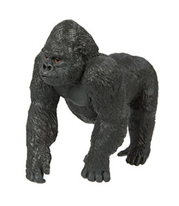 Safari Ltd Wild Safari Wildlife - Lowland Gorilla - Realistic Hand Painted Toy Figurine Model - Quality Construction from Safe and BPA Free Materials - For Ages 3 and Up by Safari Ltd.