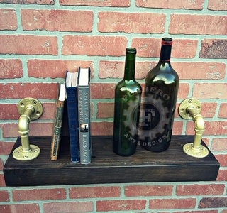 Industrial Shelf, Steampunk Shelf, Rustic Shelf, Wall Shelf, Pipe Shelf, Wood Shelf, Wall Decor, Steampunk Decor, Industrial Decor