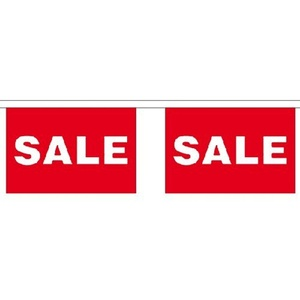 Sale Giant Bunting (30 Large Flags) 22.75M Shop Retail Sign Flag by Sale