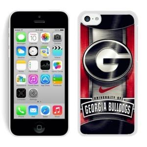 Georgia Bulldogs White iPhone 5C Phone Case Genuine Custom Cover