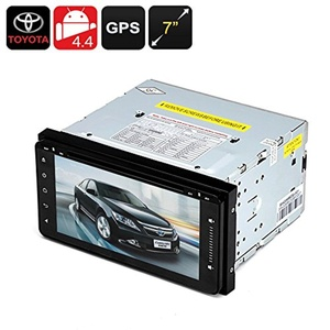 2 DIN 7 Inch Toyota Car DVD Player - Android OS, 800x480, Quad-Core CPU, 1GB RAM, GPS, Wi-Fi, Bluetooth