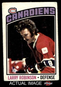 1976 O-Pee-Chee NHL # 151 Larry Robinson Montreal Canadiens (Hockey Card) Dean's Cards 2 - GOOD