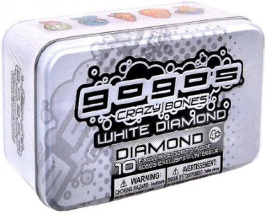 Gogos Crazy Bones White Diamond Tin with 10 Exclusive Gogos assortments may vary by Magic Box International