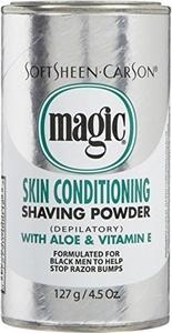SoftSheen Carson Magic Skin Conditioning with Aloe & Vitamin E Shaving Powder by Magic