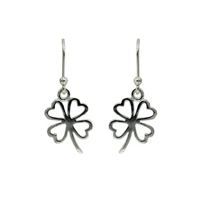 Tomas Sterling Silver Cutout Clover Hook Earrings