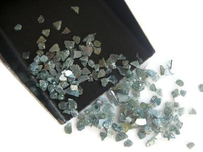 Blue Diamond Slices, Natural Blue Rough Diamond, Raw Uncut Diamond Chips, 2-5mm Approx, 5 Carat Weight