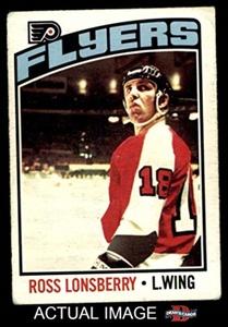 1976 O-Pee-Chee NHL # 201 Ross Lonsberry Philadelphia Flyers (Hockey Card) Dean's Cards 2 - GOOD