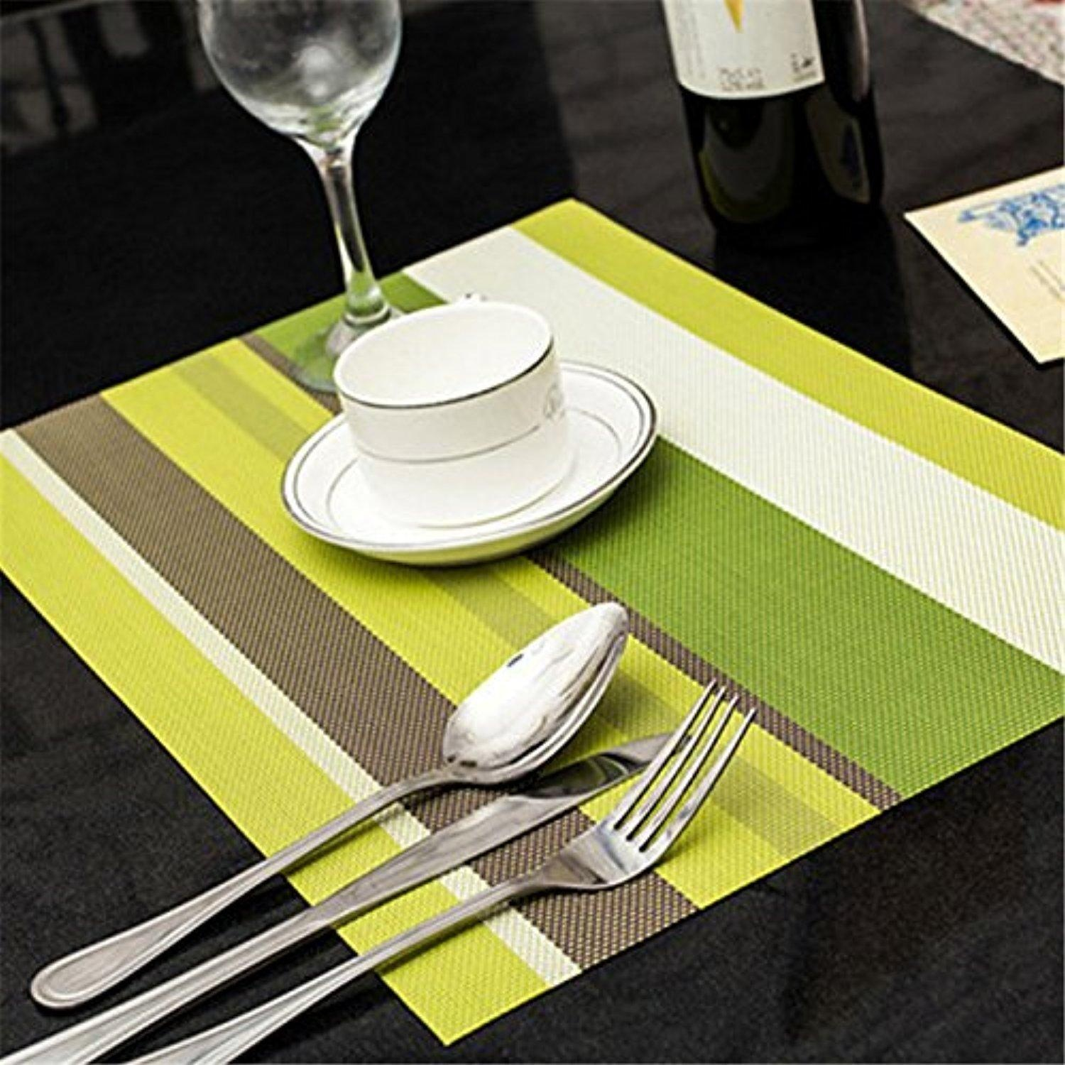 Big Big Xuan Pvc Placemats Woven Vinyl Washable Table Mats Table Mats Heatresistant  Placemats