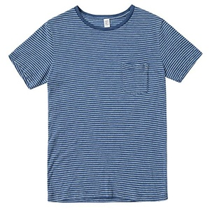 Save Khaki Men's S/S Indigo Beach Stripe Tee SK001-BS Navy SZ M