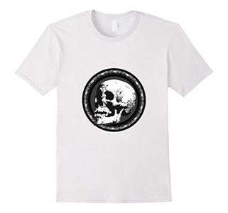 Men's Day of the Dead Sugar Skull T-Shirt Medium White