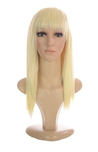 Hair By MissTresses Ladies Straight Mid Length Light Blonde Short Dallas Wig/ Lady Gaga Style by Hair By MissTresses