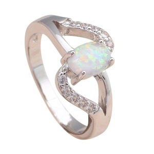 FT-Ring Gorgeous Design White Fire Opal Jewelry For Women Engagement Wedding Bridal Rings (10)