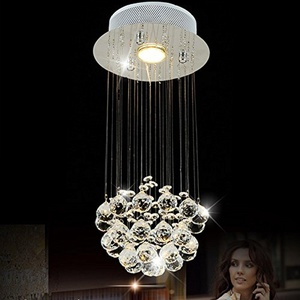 LightInTheBox Chandelier Luxury Modern Crystal Bulb Included ,35W Globe Crystal Crystal Pendant Lights