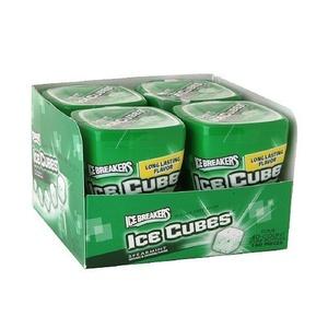 Ice Breakers Ice Cubes Sugar-Free Gum, Bottle Packs, Spearmint 4 ea by Ice Breakers