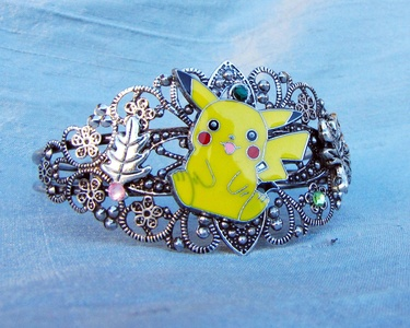 Pikachu Steampunk bracelet cuff pokemon