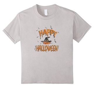 Kids Halloween Jack Lantern Bat T-shirt for Men, Women, Kids 6 Silver