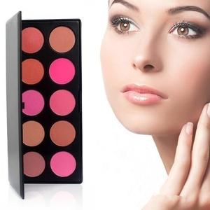 10 Color Makeup Cosmetic Blush Blusher Powder Palette Hittime by KingMas by KINGMAS