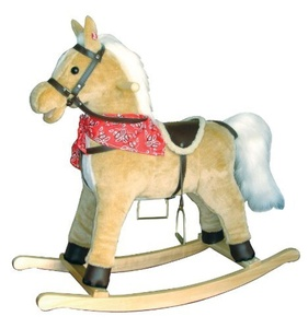 New Classic Toys Rocking Horse Plush Toy (Light Brown) by New Classic Toys