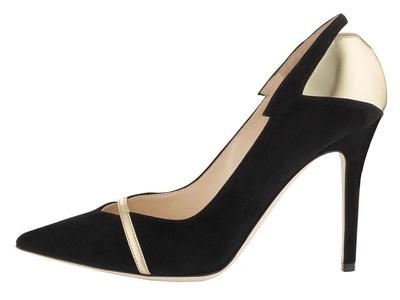 Maovii Women's Big Size Pointed Toe Elegant Irregular Stitching Party High Heel Shoes 6 M US Black