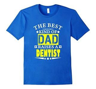 Men's The Best kind of Dad raises a dentist t-shirt 3XL Royal Blue
