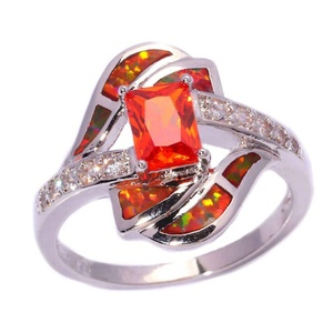 FT-Ring Orange Opal Ganet Jewelry Wedding Ring For Women Engagement Wedding Bridal Rings (5)