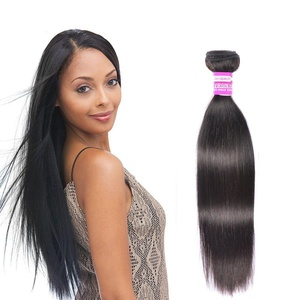 Brazilian Straight Hair Weave Bundles 100% 8a Unprocessed Virgin Human Hair Natural Black Color Can Be Dye 8 Inch 1 Piece 100g No Tangle No Shedding