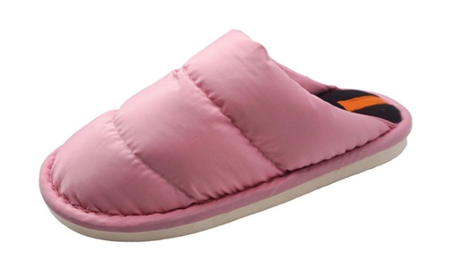 Feiupe Girl Women Premium Indoor House Winter Cotton Slipper Sandal (7-8 B(M) US, Pink)