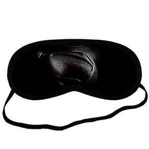 Custom Black Superman Sleeping Mask, Comfortable Soft Cotton Sleeping Aids Eye Mask Cover Travel & Work Rest