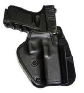Front Line Three Layer Paddle Gun Holster Black Synthetic Leather, Kydex, Suede Lining