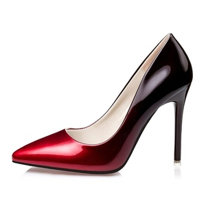 No.66 Town Women's Fashion Stiletto High Heel Pointed-toe Party Pumps Size 8 Wine Red