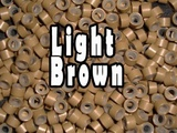 Silicone Micro Rings Beads - 200 Light Brown 5mm rings for I Tip Hair Extensions or Feather Hair Extensions by Kiara H&B