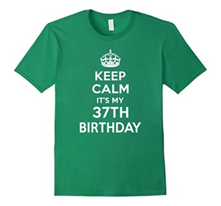 Men's Keep Calm It's My 37th Birthday Gift Ideas Her Shirt 1979 3XL Kelly Green