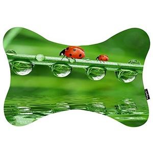 Custom Travel Car Seat Neck Pillow Ladybird Bone Shape Neck Rest Cushion (Only One)