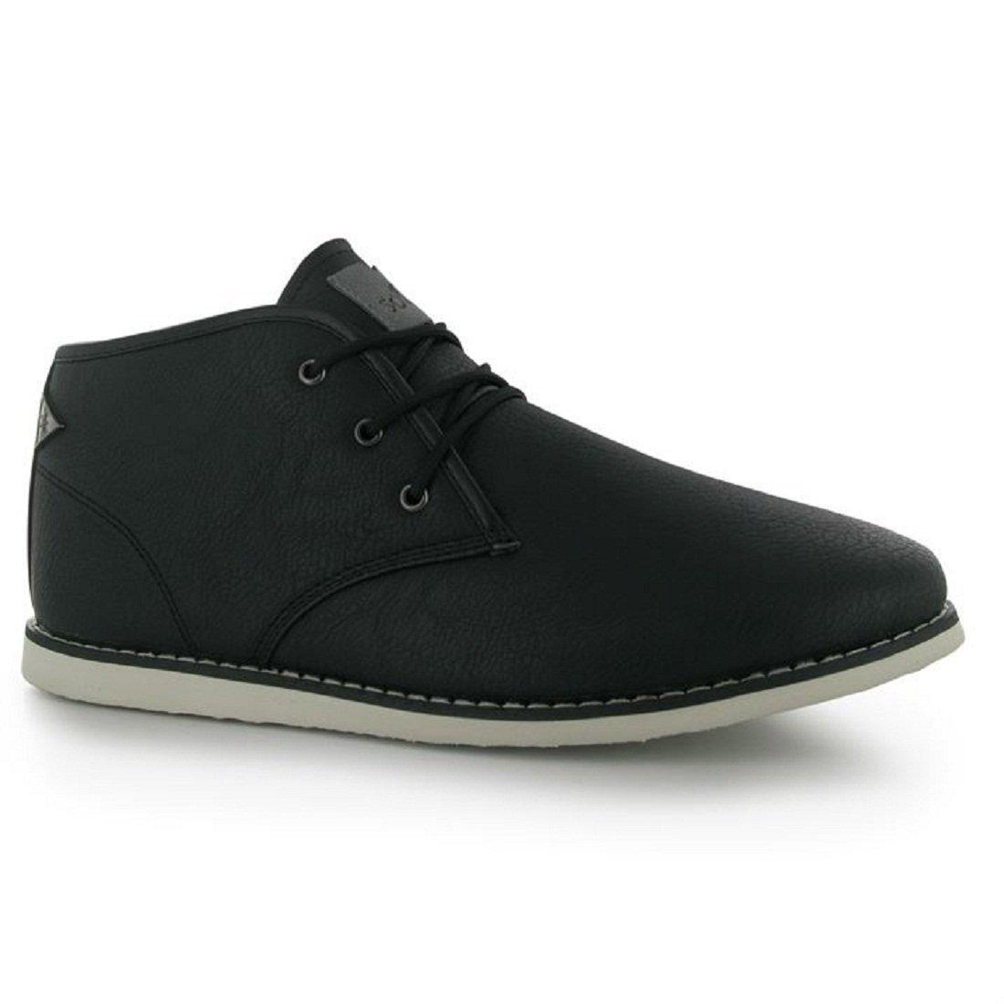 Mens Soviet White Chapel Mid Boots Shoes Black (UK 9.5 / US 10)