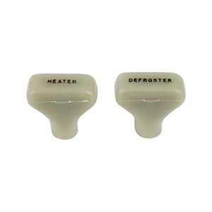 MACs Auto Parts 47-20044 Heater Door & Defroster Knobs - Light Mint Green With Black Letters - Ford Pickup Truck
