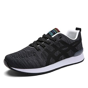 Red Dandelion Men Fly Weave Lace-up Walking Runing Sneakers Lightweight Shoes Size 7.5 US Black