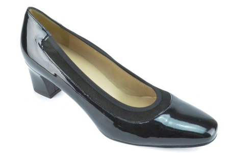 Ron White Gabriele Women's Onyx Patent Leather Pumps Eu36
