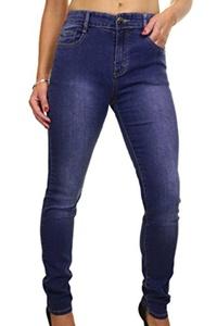 ICE (1522-1) Plus Size Stretch Denim Faded Legs Jeans Blue