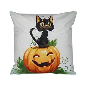 Iuhan® Fashion Halloween Pillow Case Sofa Waist Throw Cushion Cover Home Decor (L)