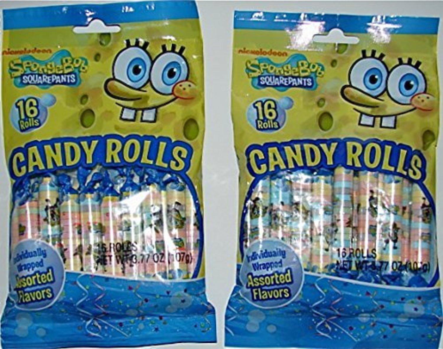 online store sponge bob square pants candy rolls 2 pack by